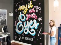Skyelash Lounge Wall Mural