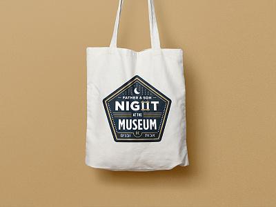 Night at the Museum Logo logo washington dc gold scroll stars moon night at the museum badge design