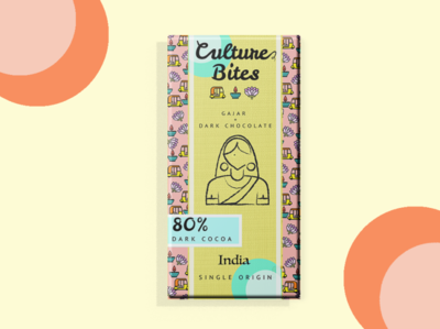 Culture Bites: INDIA 🇮🇳 chocolate packaging chocolate bar chocolate indian design indian culture india culture dribbbleweeklywarmup product photoshop packaging 3d mockup graphic design branding 3dmodeling productdesign