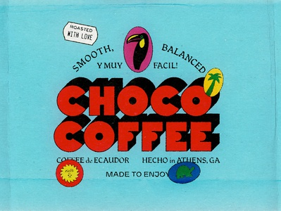 Choco Coffee ecuador coffee palm toucan typography branding type