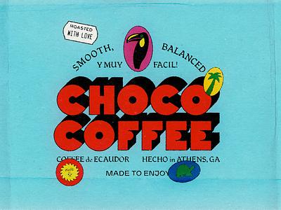 Choco Coffee ecuador coffee palm toucan typography branding type