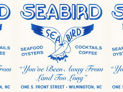 Seabird II coffee seafood restaurant seagull illustration typography branding
