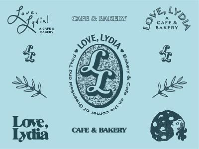 Love Lydia 2 cafe bakery coffee food branding restaurant typography logo illustration type