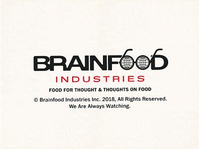 BrainFood corporate identity globe glasses icon atlanta food branding illustration type logo