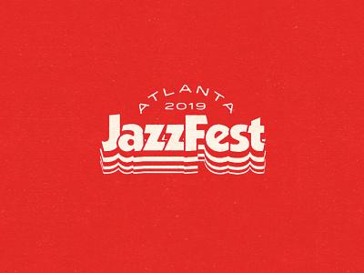 2019 Atlanta JazzFest retro typography music atlanta jazz