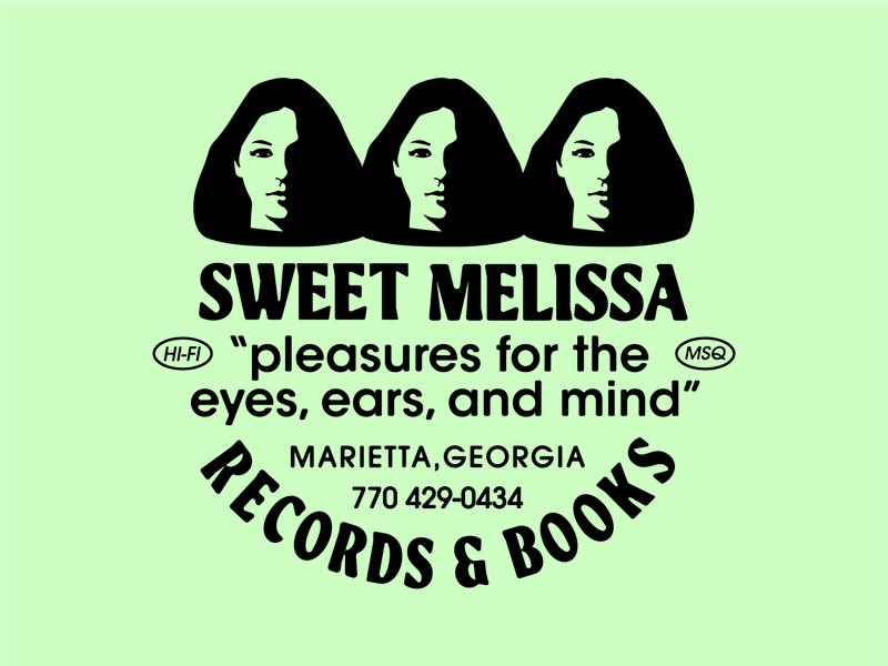 Sweet Melissa Records branding record store face avant garde book vinyl record
