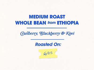 Medium Roast 1970s 70s typography coffee