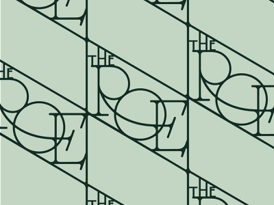 The Roe Pattern patterns restaurant typography metal art deco pattern