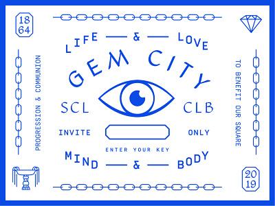 Gem City Social Club invite diamond fountain eye social club