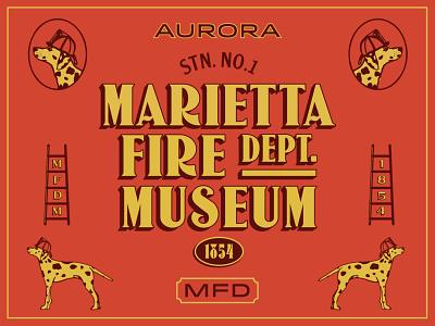 Marietta Fire Department Museum vintage typeface type dalmation fire station dog