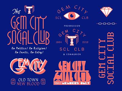 Gem City Asset Dump atlanta fountain eye chains branding type