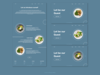 Restaurant Website Design UI