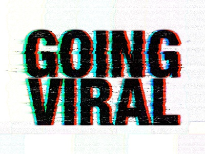 Going Viral Sermon Series Design branding glitch art glitchy type vhs glitch sermon graphic church