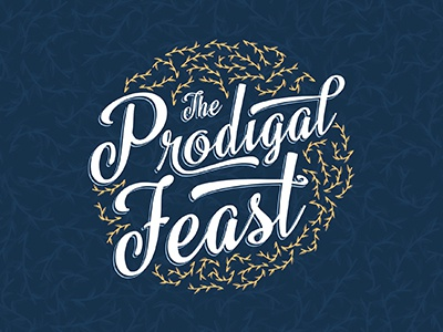 Prodigal Feast Logo Dribble non profit prodigal event