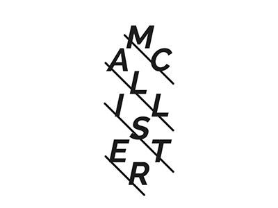 McAllister branding logo band pop indie