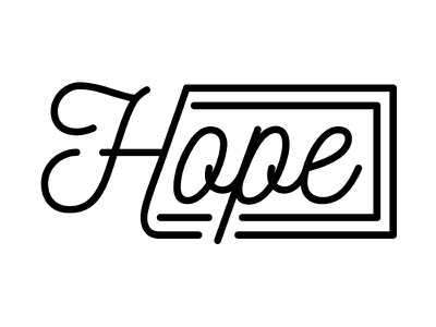 Hope event hope logo branding church