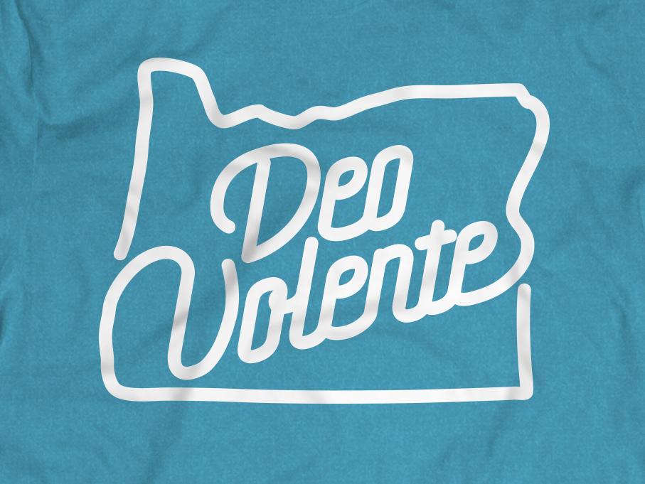 Deo Volente Shirt screenprint mission church fundraiser shirt missions portland