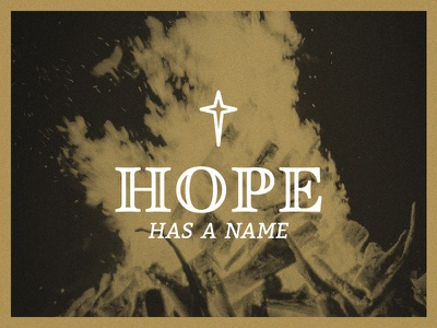 Hope Has a Name serif event hope banquet branding logo