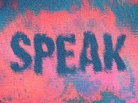 Speak Sermon Series Graphic