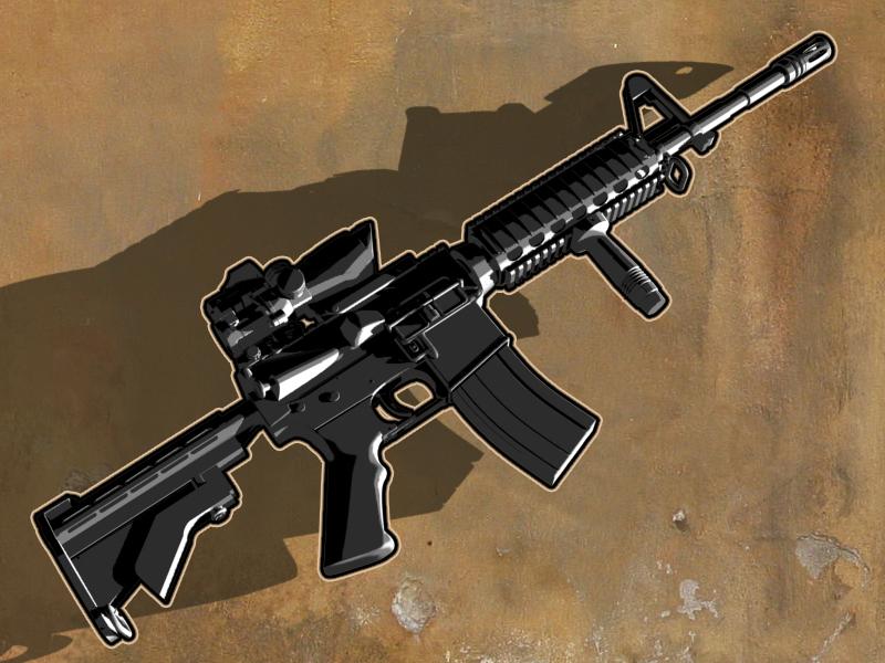 Assault Rifle editorial guns weapons illustration