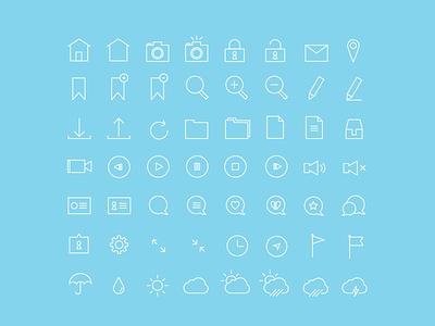 Thin Stroke 56 Icon Set icon icons free vector simple thin line flat ios7 freebie app