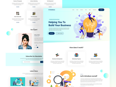 Business Solutions Agency Home Page Design ui designer branding ui design uidesign uiux business business idea business advisors besiness grow business solution landing page design design web app trend design 2020 website design website web design web ui psd template