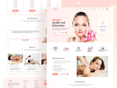 Spa and Beauty Care website Home page Design uidesignpatterns uidesigner uidesigns ui  ux uidesign body shop body spa body massage spa and beauty beauty care spa design website design website ui web design web trend design 2020 psd template