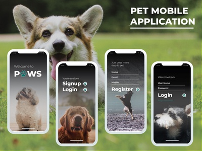 Pet mobile application UI Design