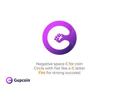 Gupcoin - logo deisgn |  C+G+Fist branding creative lettering brand brand design coin logo bitcoins coins logos bitcoin logo logodesign crypto logo logotype gupcoin coin logo design logo