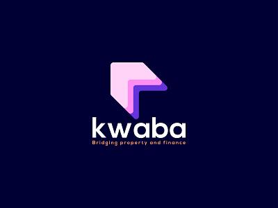 kwaba - logo design | k letter with home property logo minimalist logo trendy logos k letter k logo lettering logodesign branding home rental brand homely home logo renter realestate creative modern logotype logo
