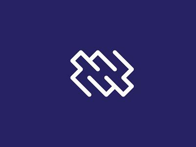 dhp letter mark abstract logoart art graphic design minimal lettermark lettering icon logodesign brand branding flat modern creative logo dhp