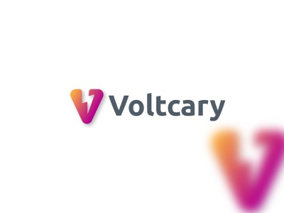 voltcary wordmark lettermark lettering branding icon app crypto logodesign graphic design logo brand flat modern creative bolt volt v logo v v letter abstract