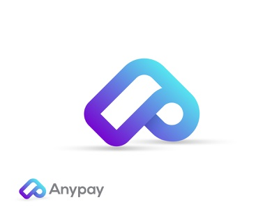 Anypay branding design brand identiy digital art art bitcoin currency branding brand logodesign p logo a logo creative modern app icon crypto app pay app method payment logo
