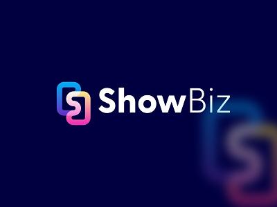 ShowBiz ( SB modern lettermark logo) analytics artology digital assets digital b logo s logo sb lettermark sb branding design app icon brand branding logoart art logodesign logo creative modern showbiz abstract