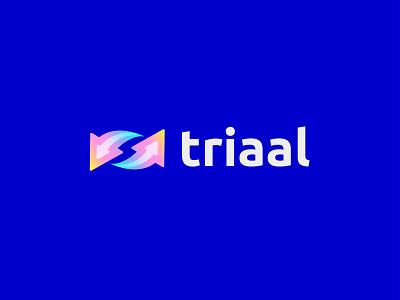 triaal animation artology dribbble google digital art 3d brand identity payment app icon triaal creative modern brand branding logodesign logo art abstract