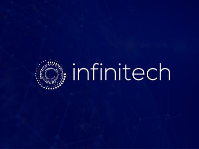 infinitech letter mark word mark flat minimalist tech mark techy modern graphic design tech logo brand identity app icon branding brand logodesign logo technology creative tech