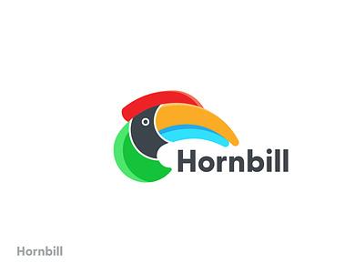Hornbill graphic design minimalist technology birds logocreation color tech branding design 3d logo app icon modern bird logo hornbill creative logodesign digital art brand identity brand branding logo