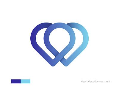 w+heart+location logo mark visual identity 3d brand identity artology art branding design flat lettermark minimalist app icon modern creative heart mark location mark w mark brand branding logodesgin logo