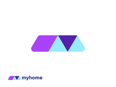 MyHome real estate logo design 3d graphic design home logo brand identity app icon branding brand logodesign simple creative modern realestate homely home logo