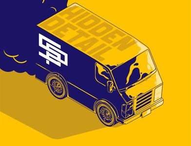 Hidden Detail Art - Isometric Illustration of Vehicle