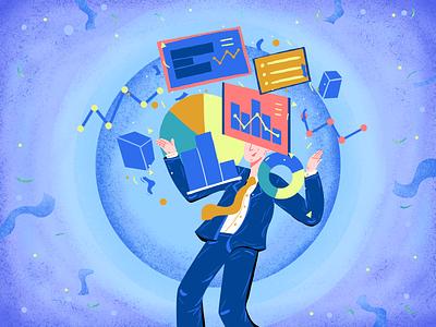 Let Data tell your story database working data man art character artwork illustration