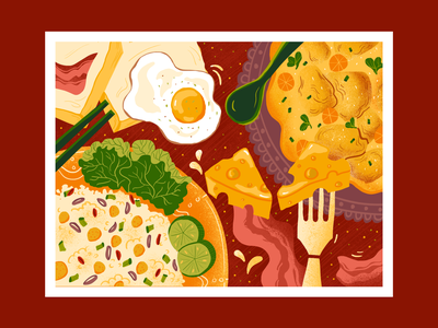 Don't lose your mind, lose your weight weight loss art food artwork illustration