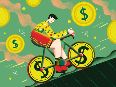 Profit first book cover design book cover cash flow cash transform money profit business illustration art art illustrator character artwork illustration