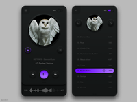 Music Player - Mobile App 3d app neumorphic dark design music app music player android ios bahur78 ui gradients sketch dark mode dark ui soft ui skeuomorphic skeuomorphism neumorphism 2020 design 2020 trends