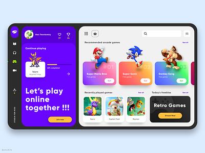 Stadia For Kids - Web App character app web flat streaming app stream gaming app gaming website bahur78 ui deisgn ui uiux sketch gaming dashboard web app website web design 2020 design 2020 trends