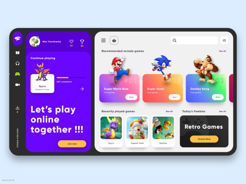 Stadia For Kids - Web App