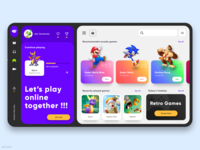 Stadia For Kids - Web App character app web flat streaming app stream gaming app gaming website bahur78 ui deisgn ui uiux sketch gaming dashboard web app website web design 2020 design 2020 trends