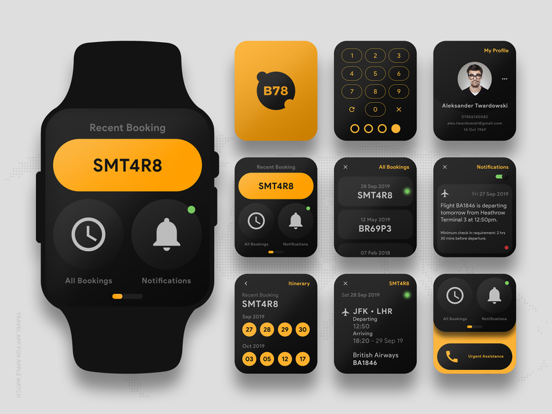 Travel App For Apple Watch - Concept