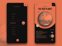 Solar System Guide App - Concept