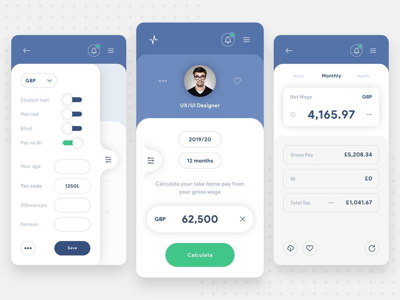 Income Tax Calculator App - Concept